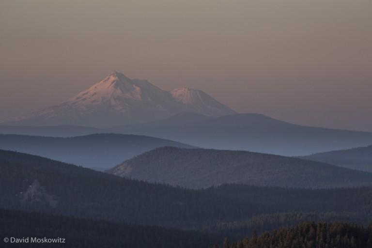 Sunrise on Mount Shasta.