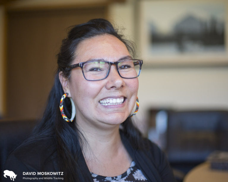 Naomi Owens, Treaty Manager for the Saulteau First Nation discussed her people's involvement in protecting caribou and other resources on their traditional territory.