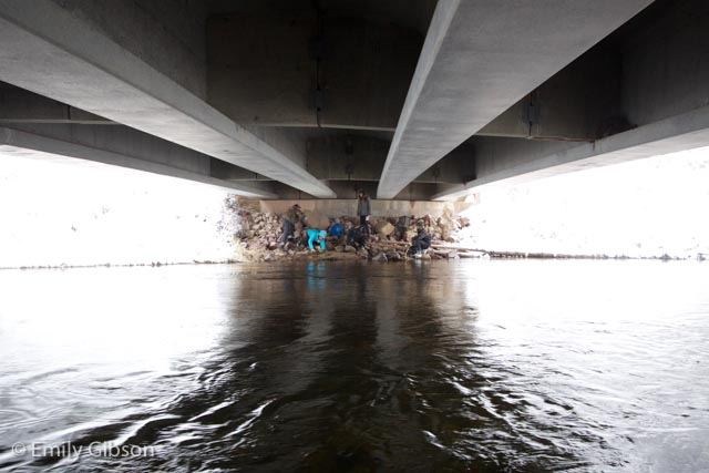 We took refuge under a bridge for a few questions on the snowy Sunday.