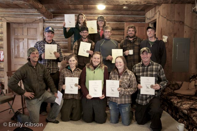 Congratulations to everyone who participated in the evaluation. In this particularly talented group of wildlife trackers, everyone earned a Level 2 certificate or higher!