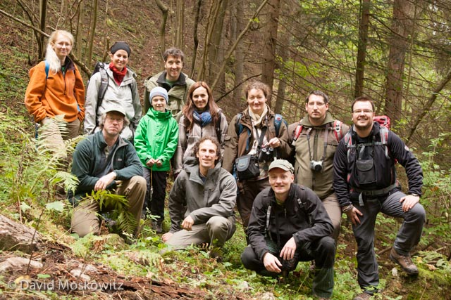 Participants in the wildlife tracking workshop Slovak Wildlife Society hosted.