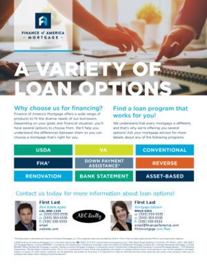 flyers loan programs fam scv marketing