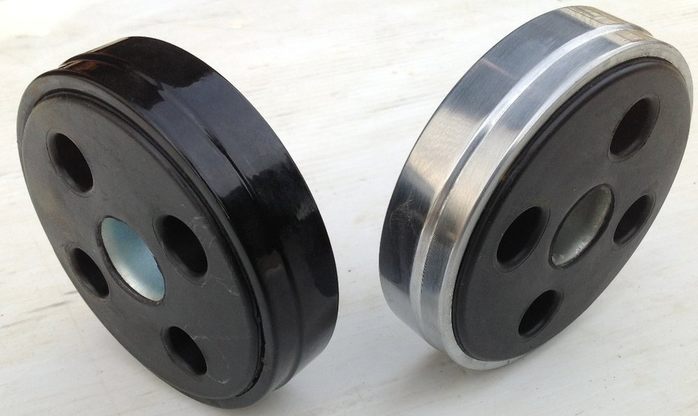 Flexible U-Joint Coupling (Donut) - Black or Silver