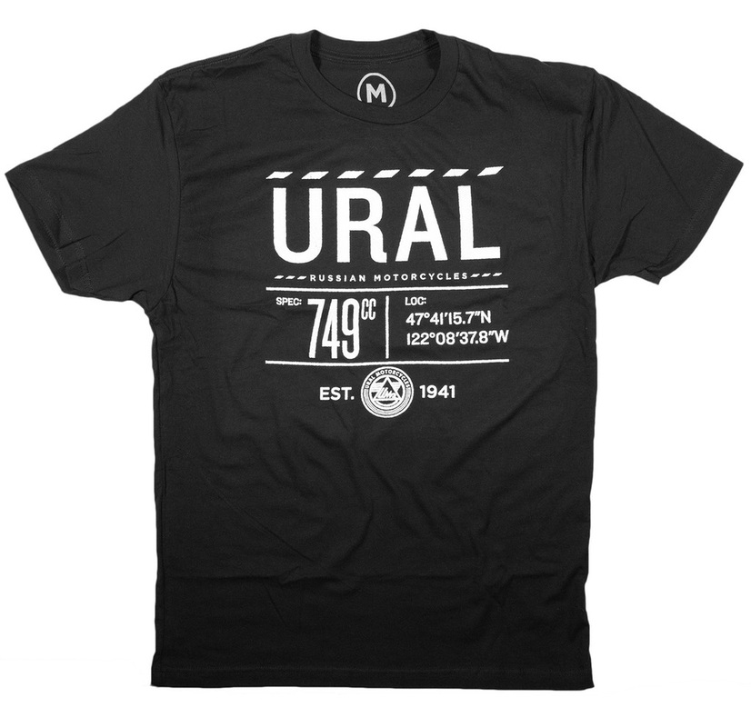 Ural Infographic T-shirt Black (Sz M, L, XL, 2XL, 3XL)