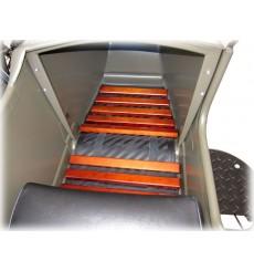 Wooden floor mat for sidecar