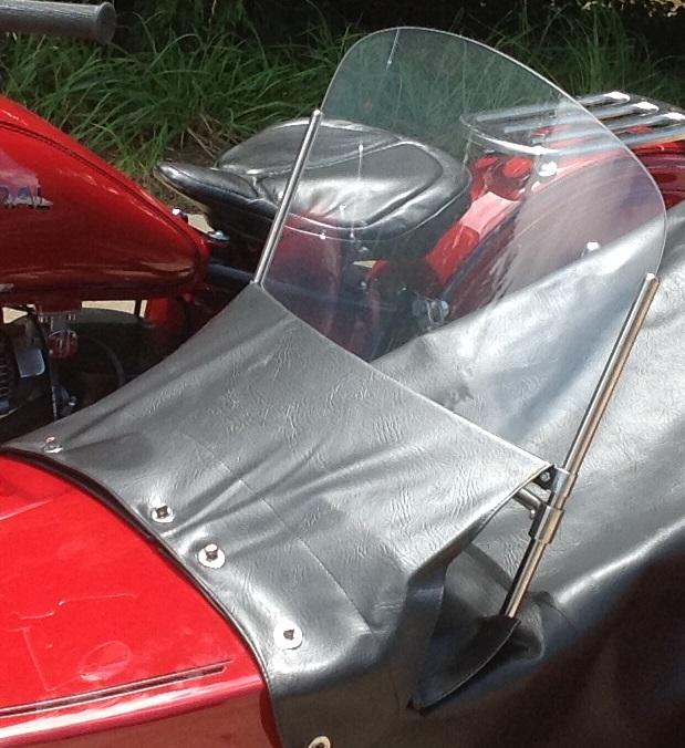 Sidecar Windscreen - Stainless/Black frame