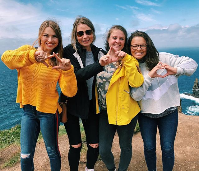 Girls all around the world and all around the Greek community!! From the Cliffs of Moher, Go Greek!!