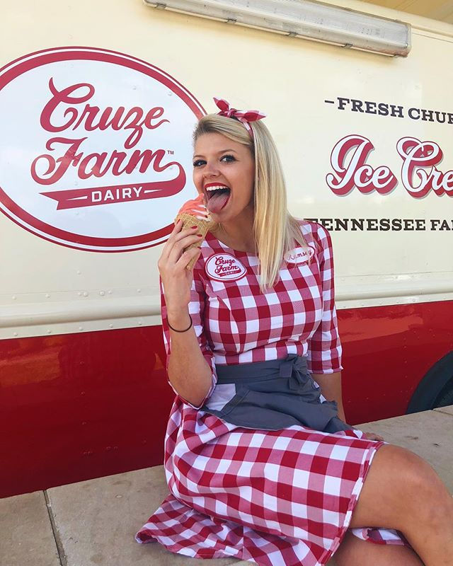 Everyone make sure to stop by Cruze Farm to see our girl Ramsey this summer!! 🍦