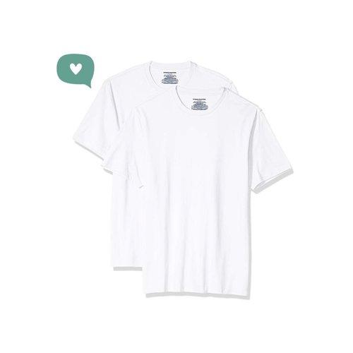 1fd9171e3 Amazon Essentials Men's 2-Pack Slim-Fit Short-Sleeve Crewneck T-Shirt