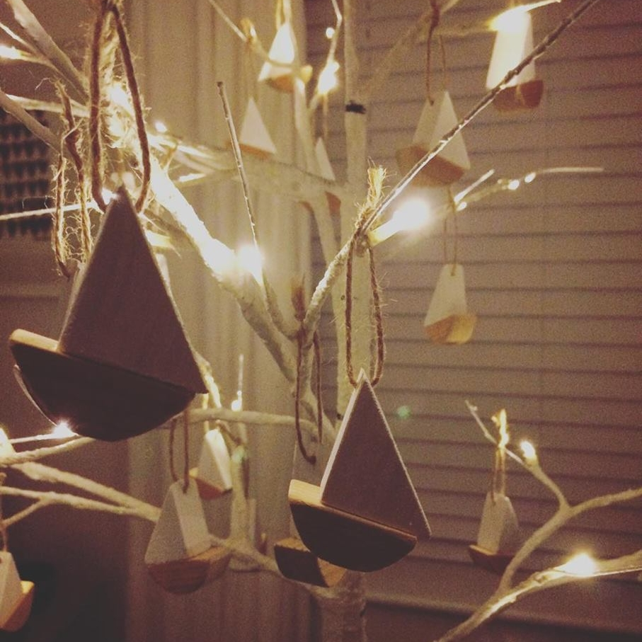 """Thanks Tinkebu for the lovely boats! Can't wait to put them on the tree. #notjustforkids"""
