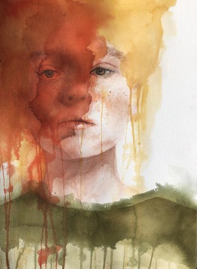 Ethal  Alisha Rich  640 gsm paper 560 x 760  Watercolour