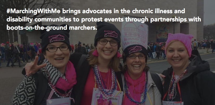 #MarchingWithMe at the Women's March on Washington, 2017
