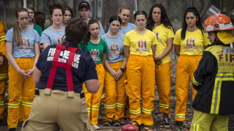 """From the SMH: """"The camp participants will learn firefighting and interpersonal skills."""" Images: Wolter Peeters"""