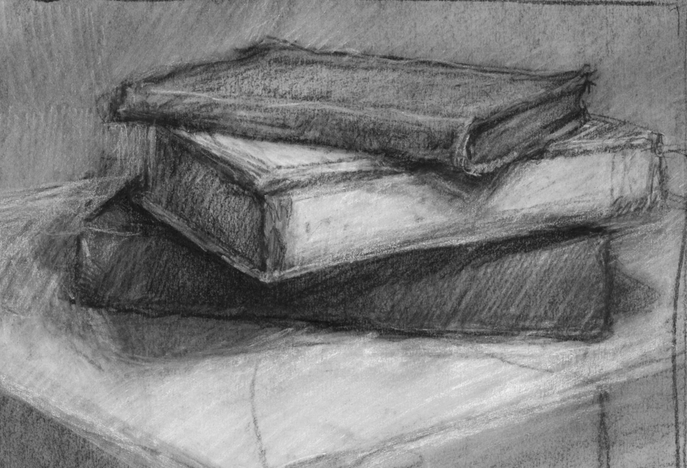 Adventures Waiting    [study]   |  charcoal on paper