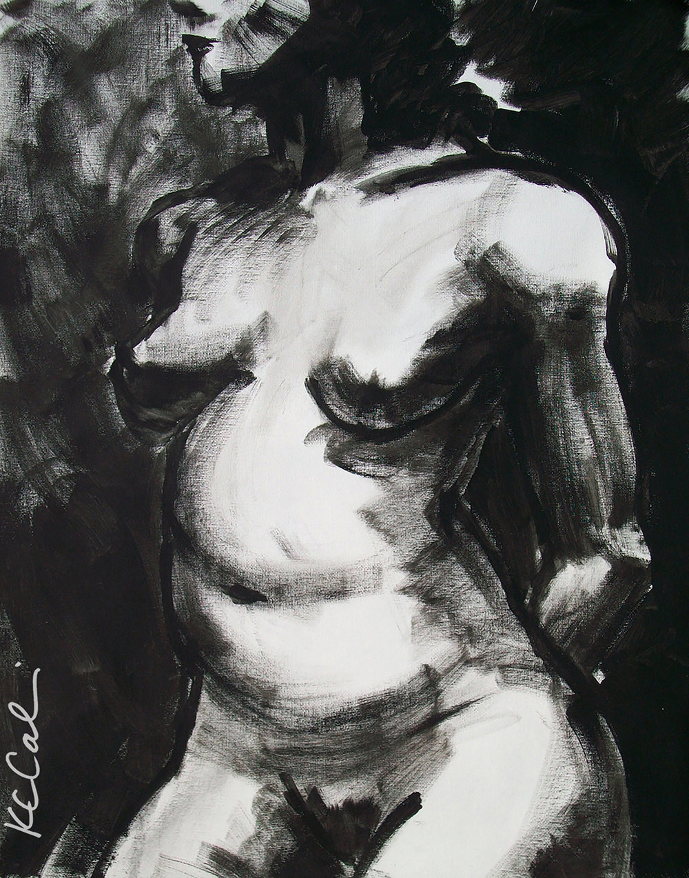 Torso 2 -    -  acrylic on canvas   [sold]