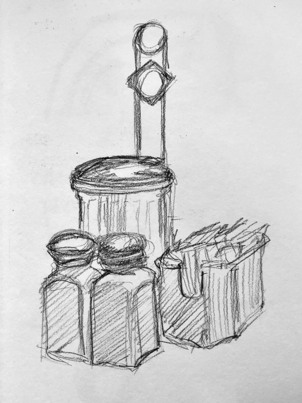 I have more condiment caddy sketches…