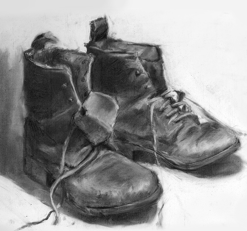 Paddock Boots  |     charcoal on paper