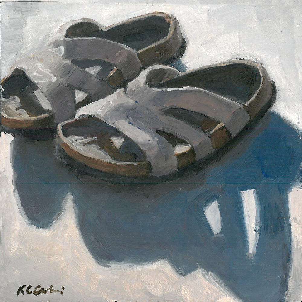 """Beach Buddies     6"""" x 6""""   acrylic on panel   SOLD       PRINTS     AVAILABLE  contact me: kc@kccaliartist.com"""