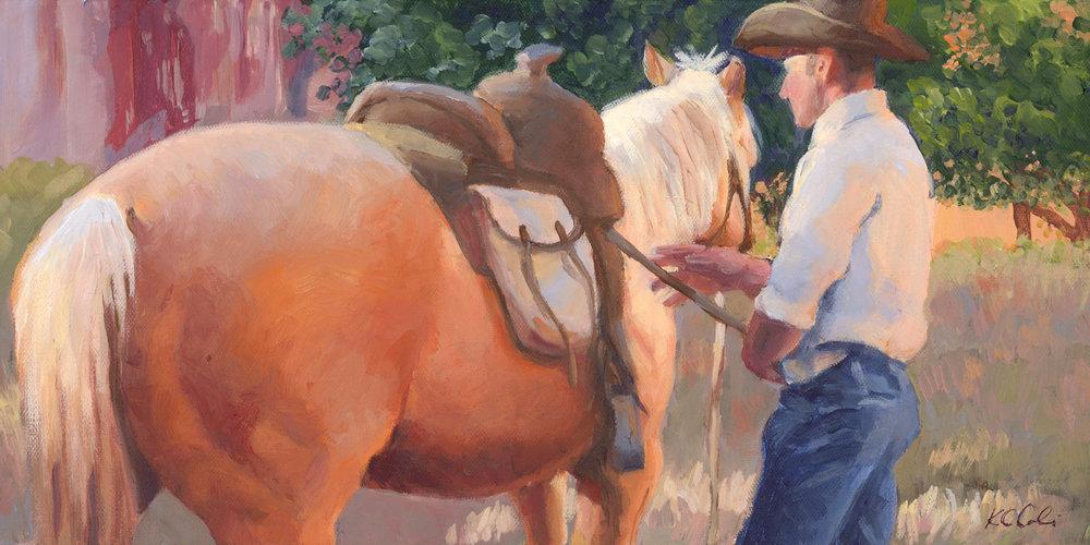 "Arizona Morning       8"" x 16""     acrylic on canvas.     AVAILABLE  contact me: kc@kccaliartist.com"