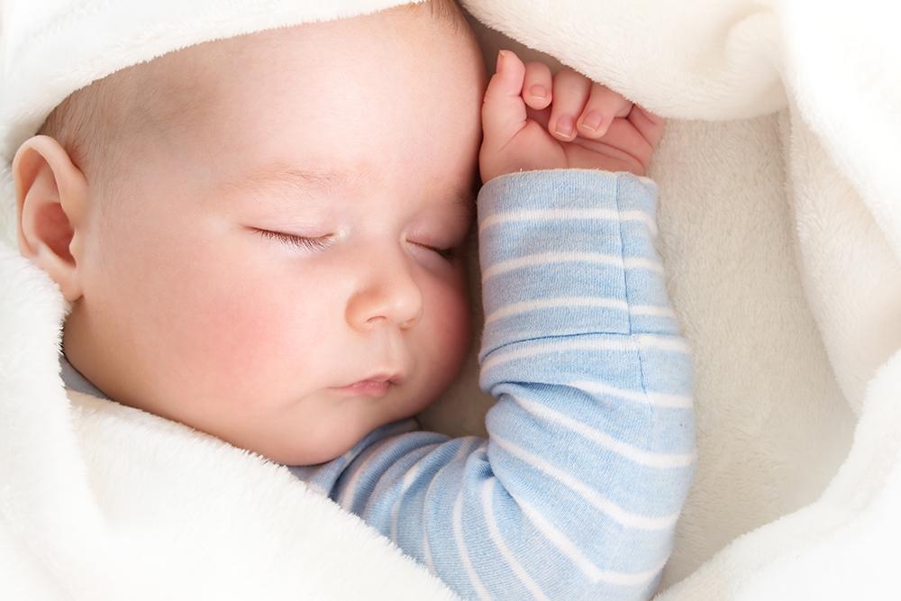 Snuggled Baby Sleeping