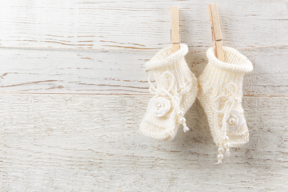 Knitted Baby Footies