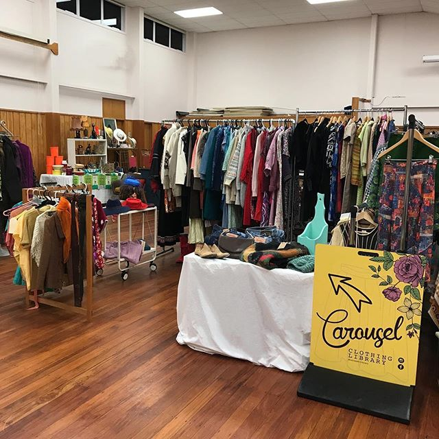 What are you up to tomorrow? Carousel will be at the Waikato Mid-Winter Fair. We checked out the stalls after setting up this evening and there are some amazing treasures there. We don't often sell clothes so if you have loved something you've borrowed from the library (50s-70s garments) you might be able to snaffle it for keeps tomorrow. . #midwinterfair #vintage ##vintagefashion #sustainablefashion #lovethetron #style #hamiltonnz