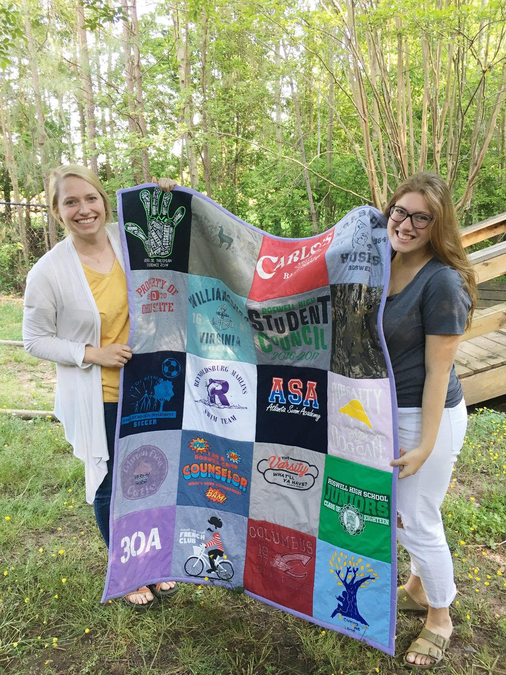 T-Shirt quilts make the sweetest gifts and are the best way to cherish memories while cleaning out your dresser. -