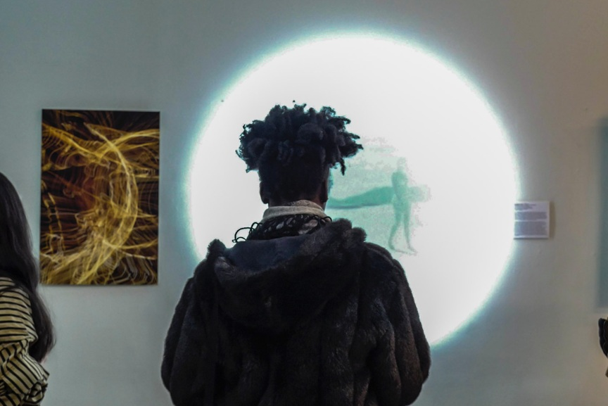 Neverending in All Directions  by   Lily Reeves and Krista Davis  ( 2018 ),  video installation at Nova Prize Exhibition.