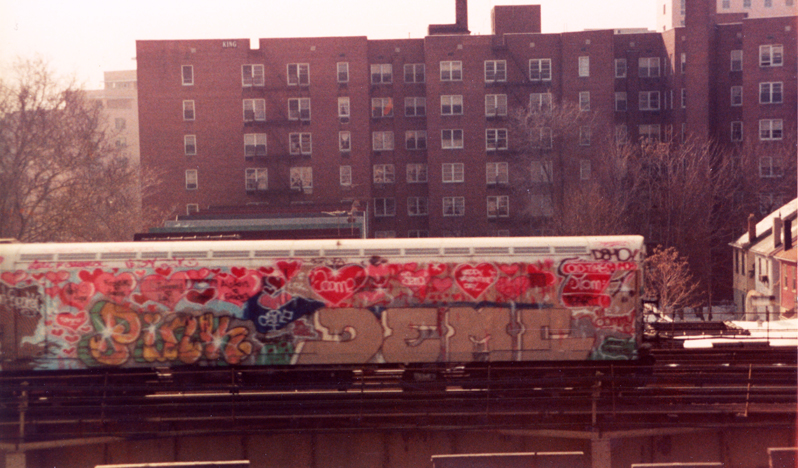 7 train  (1993) painted by Lady Pink and Demo TPA
