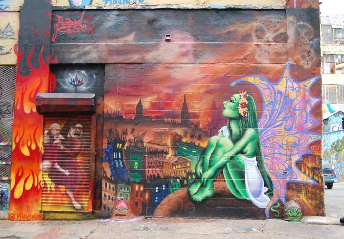 Fairy  (2005) painted at 5 Pointz, Long Island City