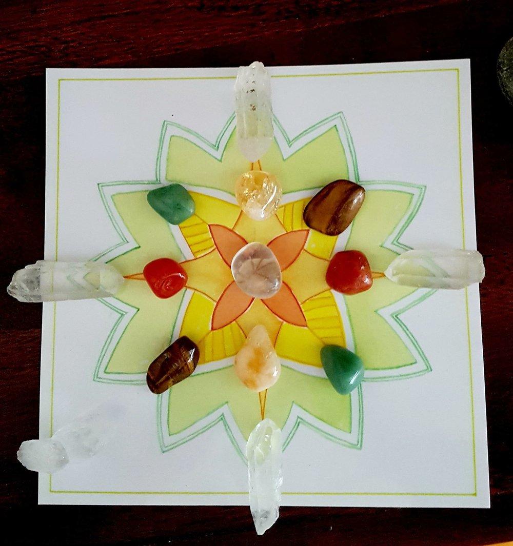 Abundance Crystal Grid