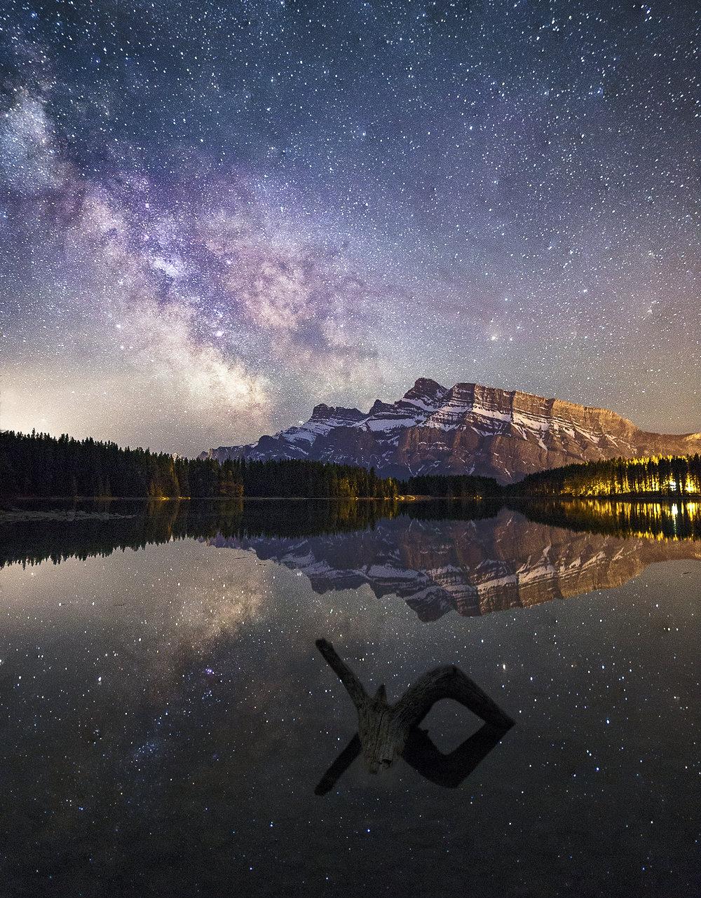 Milky Way Over Two Jack Lake