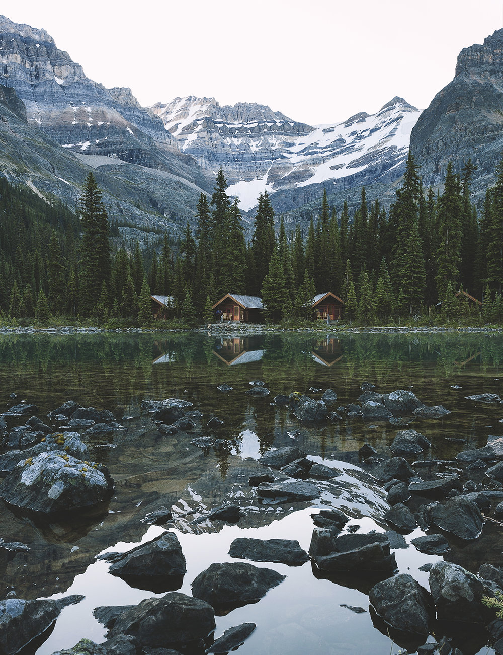The Lake O'Hara Lodges, you pay a premium for such a spot!
