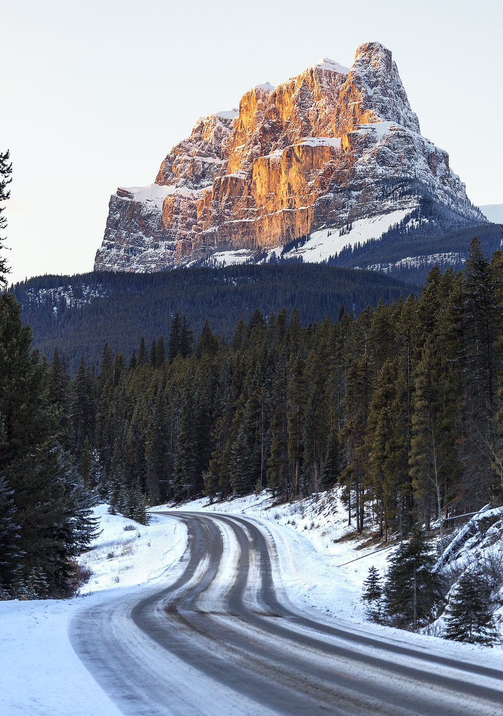 Castle mountain from the bow valley parkway