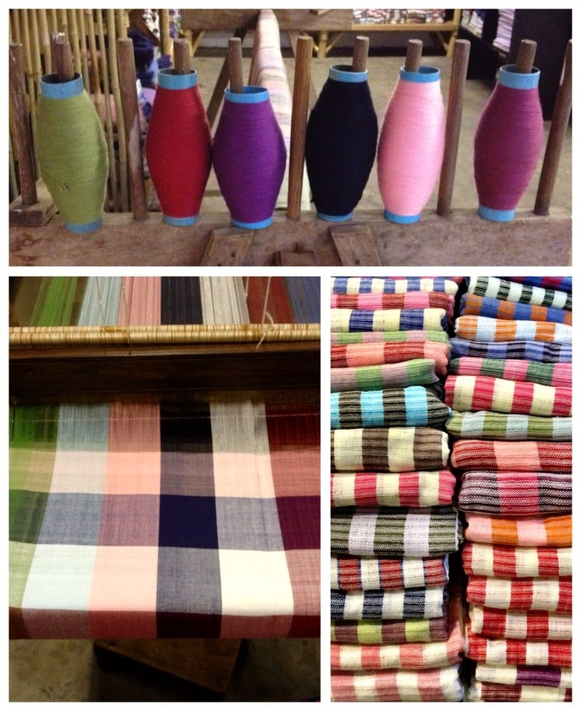 COTTON THREAD USED TO MAKE TRADITIONAL CAMBODIAN SCARVES,KRAMA