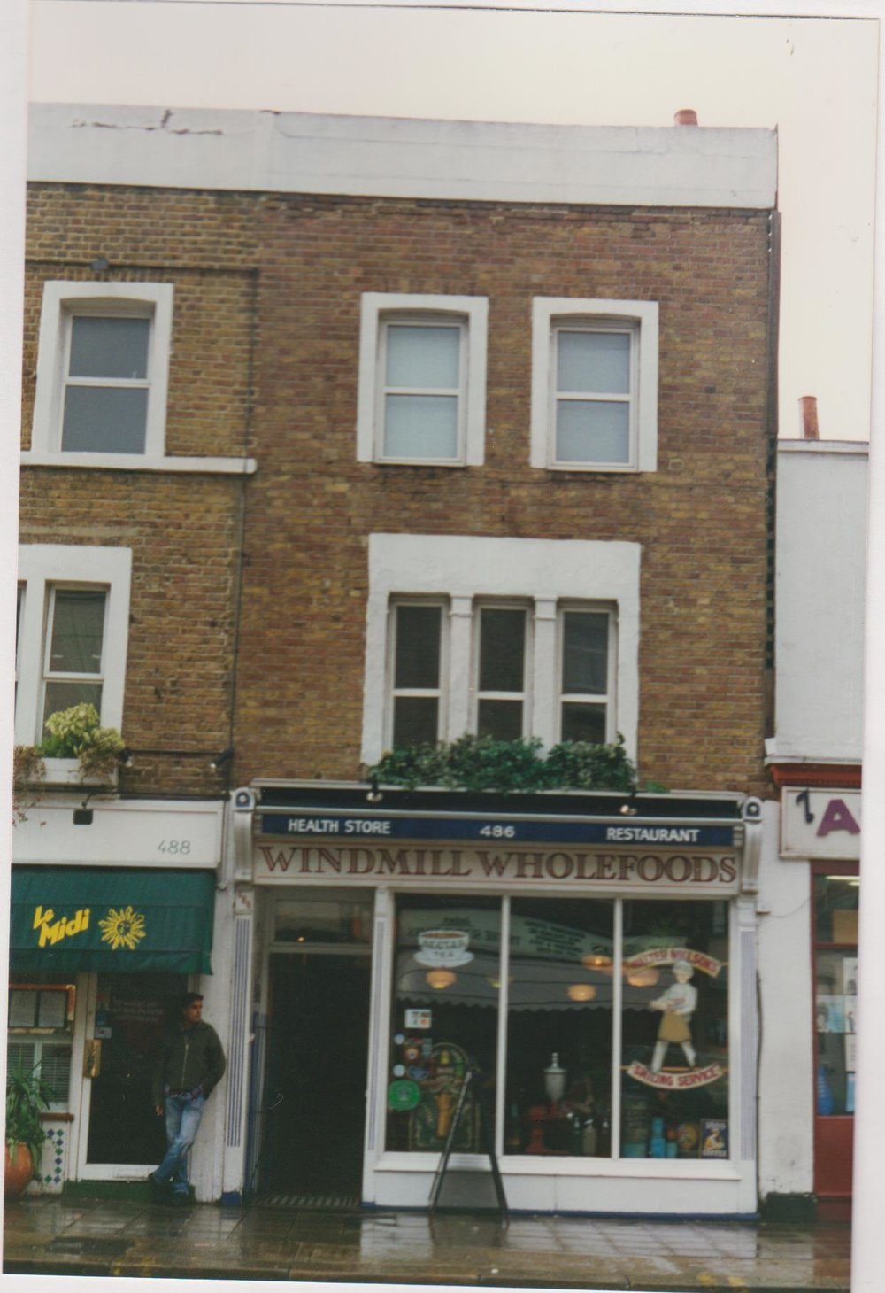 Windmill Wholefoods shop on the Fulham road in the early 1980s