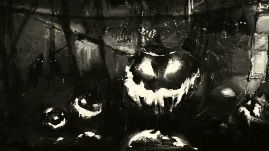 Pumpkins begin to cackle.