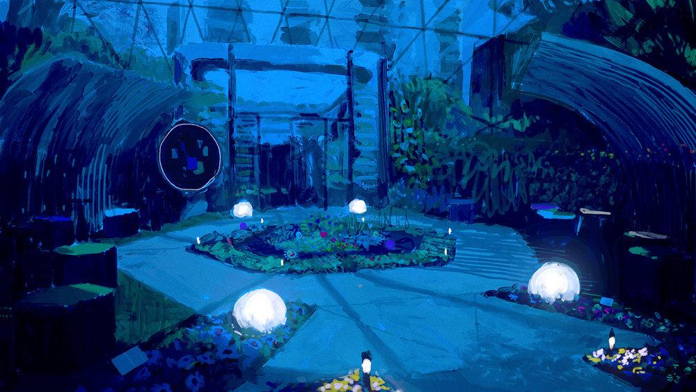 Children's Garden (Night)