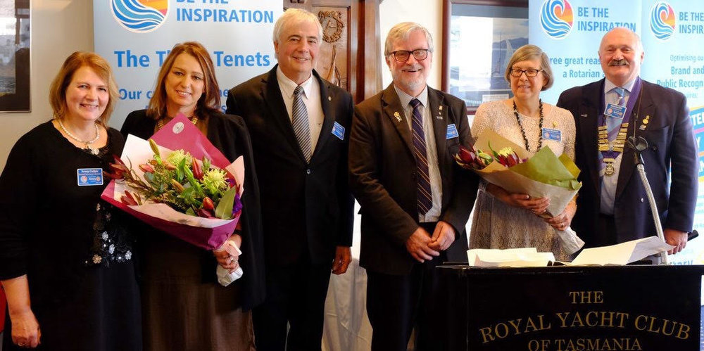 From Left: Penny Carlyle, Corrina Cooke, DGE Michael Cooke, DGN Michael Plunkett, AG Gayle Plunkett and DG Ross Carlyle.