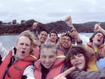 Rotary Exchange students on their Tassie tour