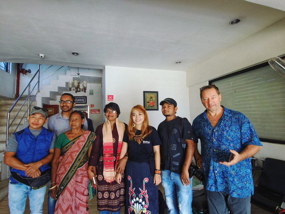 With other filmmakers and activists at the festival in Bhubaneswar