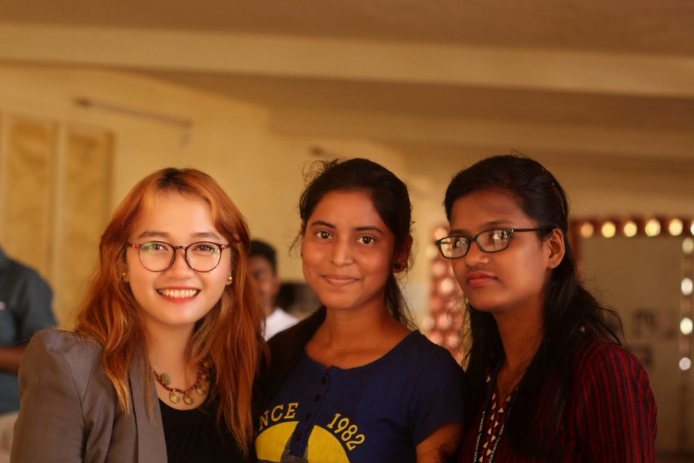 With students from Utkal University
