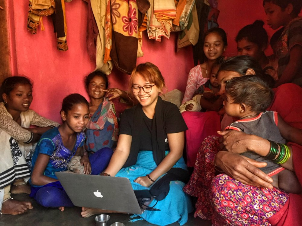Showing films and videos produced by Ranu Welum to children and youth