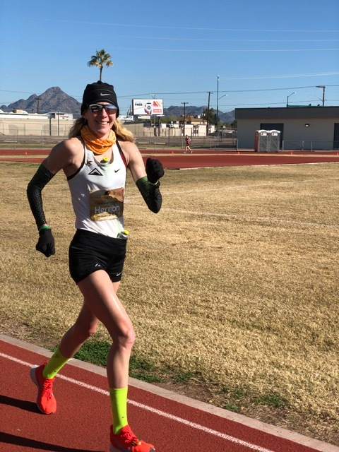 Camille Herron - Camille Herron is from Oaklahoma. She works as a research assistant, public speaker, coach and professional runner.Camille holds world records at the 12 and 24 hours races, 50 mile and 100 mile distances.2017 Comrade Marathon Champion2015 IAU 50k and 100 k Champion3 x qualifier for the Olympic Marathon Trials.Sponsers: Nike, Nathan Sports and Coros Globalwww.camilleherron.comsocial media: runcamille