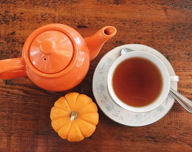 Indescribably happy that the weather finally feels like fall. I'll be embracing all things autumnal this weekend, starting with #pumpkinspice tea ☕️🎃