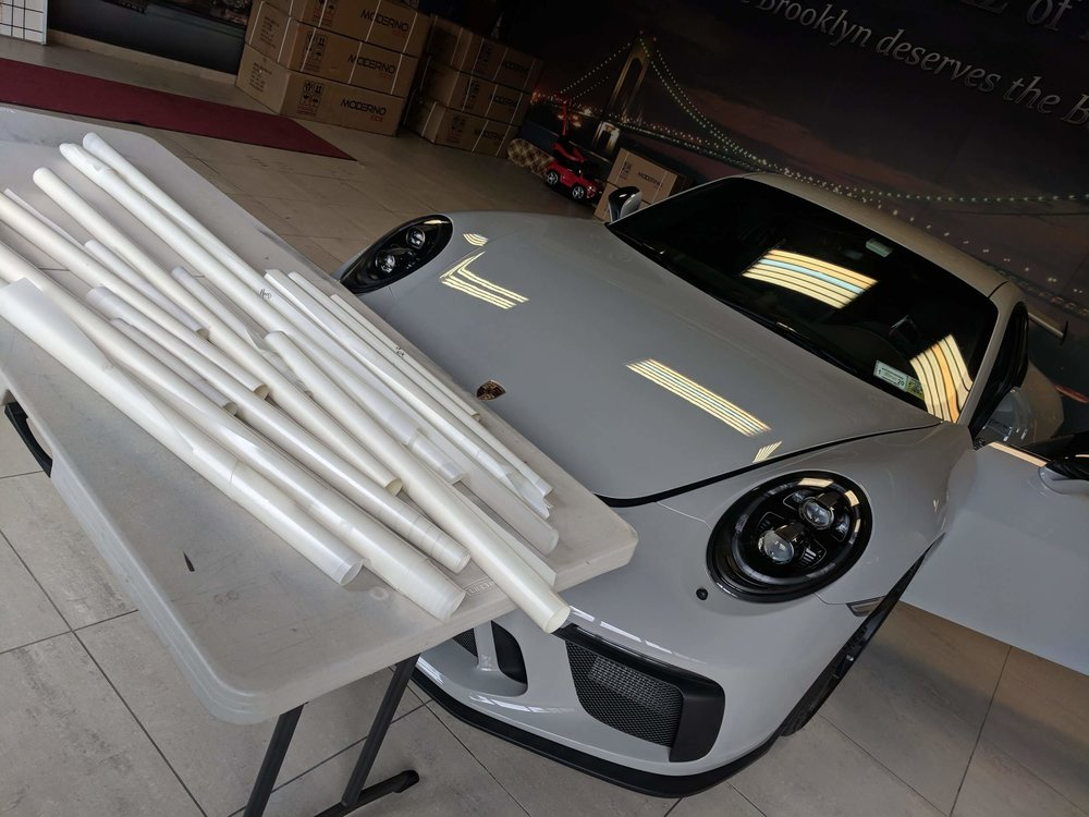 Porsche GT3 about to get the whole car wrap in Suntek Ultra paint protection film / clear bra