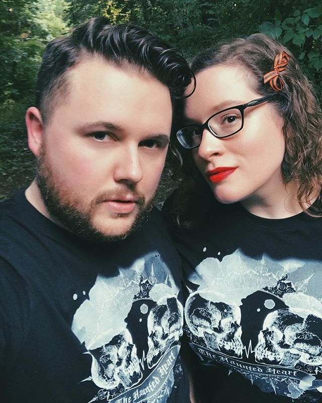 Your ghost hosts thank you for all the love and support you've shown with the merch launch! Don't forget to head over to our website and grab you some gear!!! #thehauntedheartpodcast #haunted #spooky #trashtalent #creepy #merch #instagram #podcastersofinstagram #ghosts #paranormal #truecrime #ytcreators #podcasts #applepodcasts