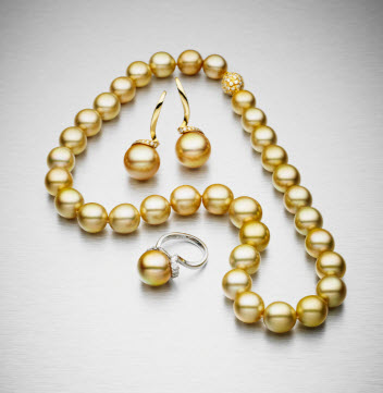 bunda gold south sea pearls from the 'lyra' collection