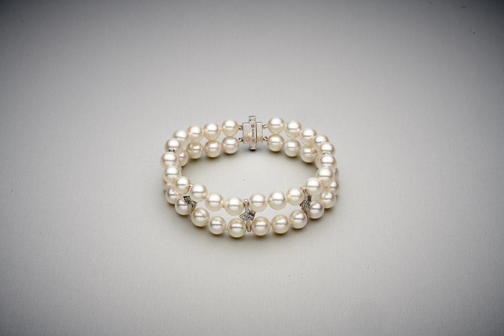 BUNDA Apus Pearl & Diamond Bracelet