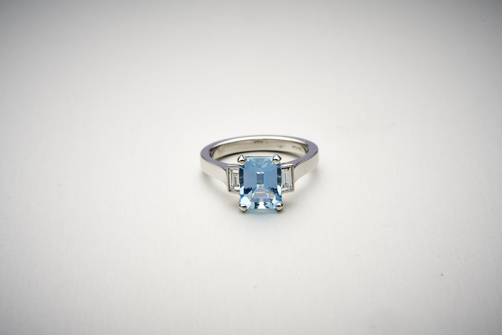 BUNDA Volans Aquamarine Ring